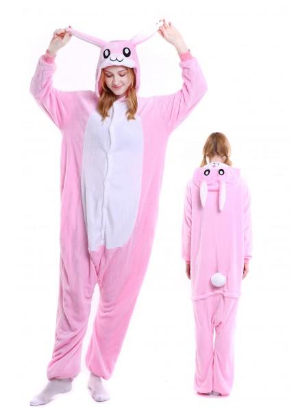 heißer verkauf rabatt kostengünstig suchen Rosa Hase Kigurumi Onesie Pyjamas Weich Flannel Unisex Tier Kostüme Für  Damen & Herren