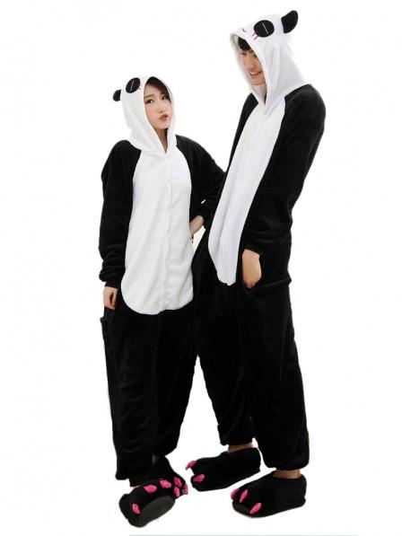 Panda Kigurumi Onesie Pyjamas Weich Flannel Unisex Tier Kostüme Für Damen & Herren