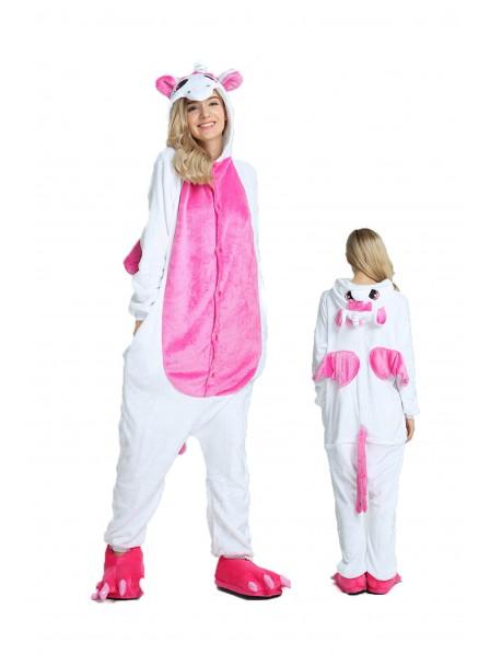 Rosa Einhorn Kigurumi Onesie Pyjamas Weich Flannel Unisex Tier Kostüme Für Damen & Herren