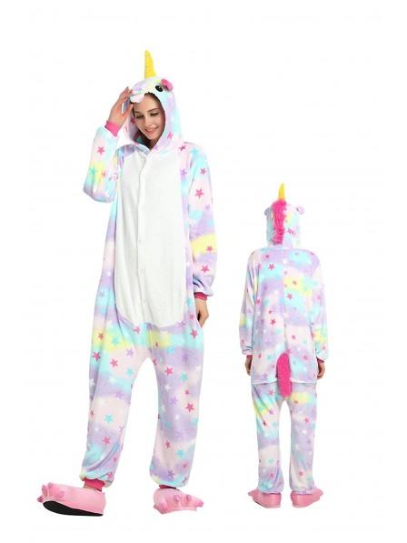 sports shoes 94200 0ca24 Stern Einhorn Kigurumi Onesie Pyjamas Weich Flannel Unisex Tier Kostüme Für  Damen & Herren