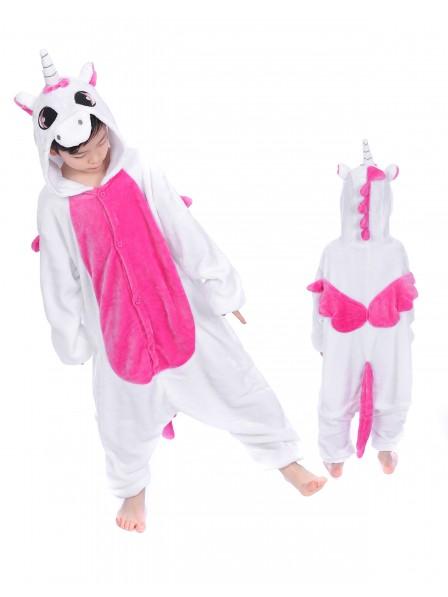 Rosa Einhorn With Wings Onesie Kigurumi Pyjamas Kids Tier Kostüme Für Jugend