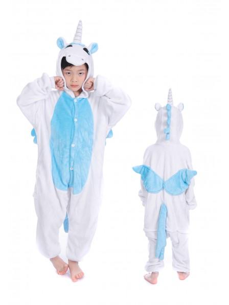 Blaues Einhorn Onesie Kigurumi Pyjamas Kids Tier Kostüme Für Jugend