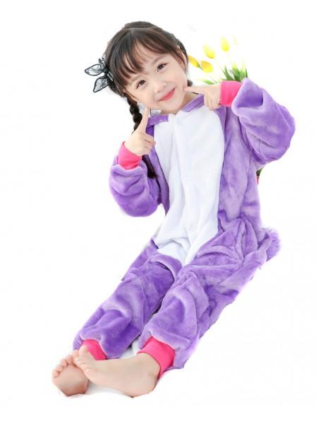 Violettes Einhorn Onesie Kigurumi Pyjamas Kids Tier Kostüme Für Jugend