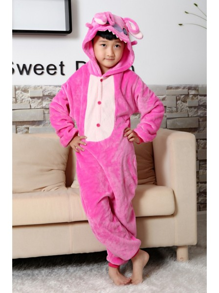 Pink Stitch Onesie Kigurumi Pyjamas Kids Tier Kostüme Für Jugend