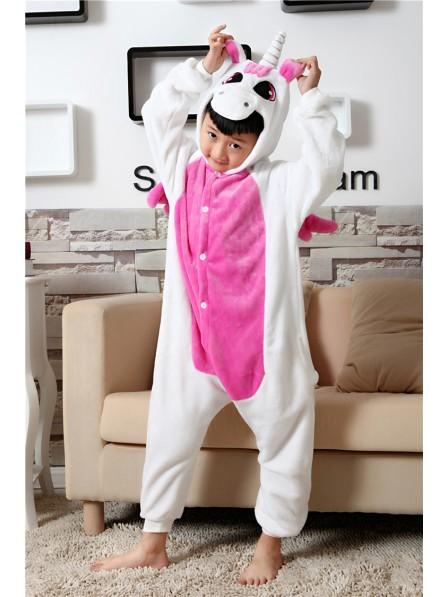 Rosa Einhorn Onesie Kigurumi Pyjamas Kids Tier Kostüme Für Jugend