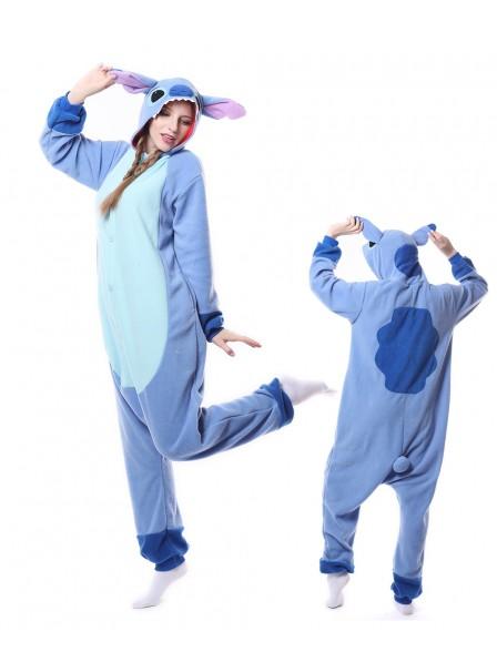 Blauer Stitch Kigurumi Onesie Pyjamas Tier Unisex