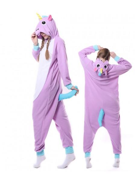 Neu Violettes Einhorn Kigurumi Onesie Pyjamas Tier Unisex
