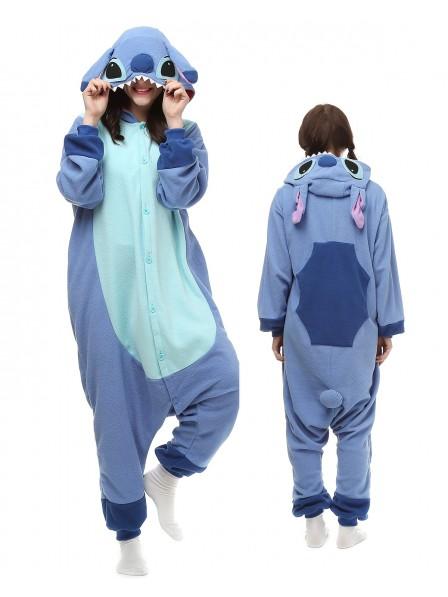 Stitch Kigurumi Onesie Pyjamas Polar Fleece Tier Unisex Kostüme Für Erwachsene