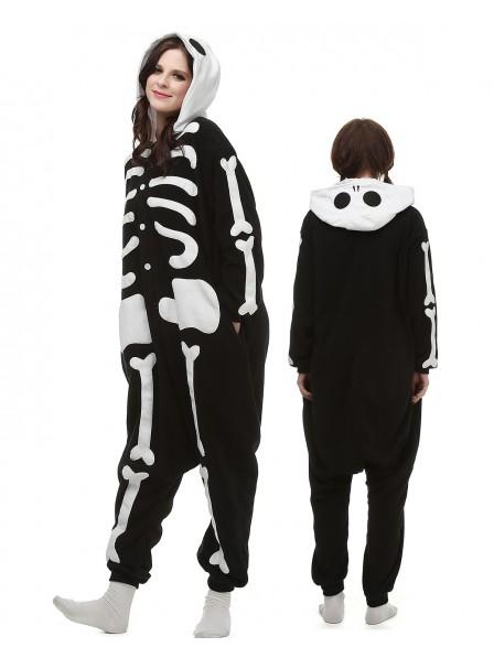 Skelett Kigurumi Onesie Pyjamas Polar Fleece Tier Unisex Kostüme Für Erwachsene