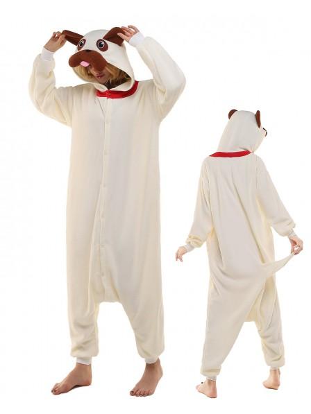 Mops Kigurumi Onesie Pyjamas Polar Fleece Tier Unisex Kostüme Für Erwachsene