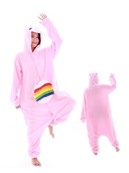 Regenbogen Bär Kigurumi Onesie Pyjamas Polar Fleece Tier Unisex Kostüme Für Erwachsene