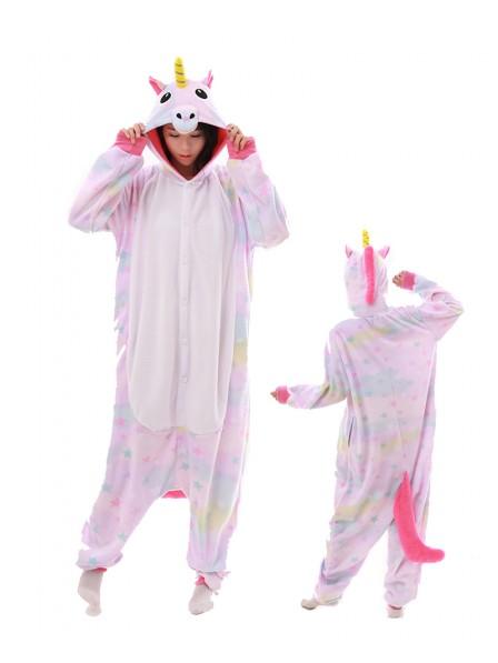 Pastell Traum Stern Einhorn Kigurumi Onesie Pyjamas Polar Fleece Tier Unisex Kostüme Für Erwachsene