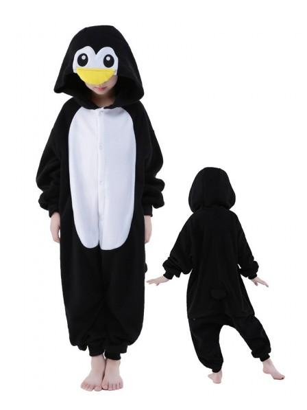 Pinguin Onesie Kids Kigurumi Polar Fleece Tier Kostüme Für Jugend