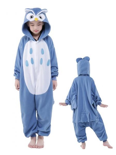 Eule Onesie Kids Kigurumi Polar Fleece Tier Kostüme Für Jugend