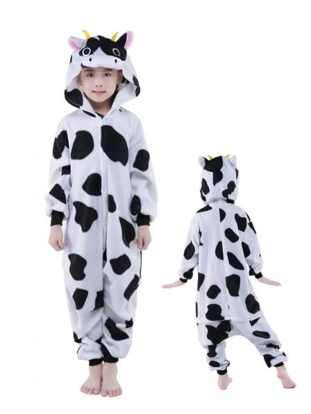 Kuh Onesie Kids Kigurumi Polar Fleece Tier Kostüme Für Jugend