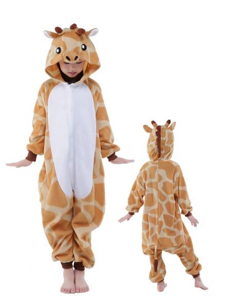 Giraffe Onesie Kids Kigurumi Polar Fleece Tier Kostüme Für Jugend