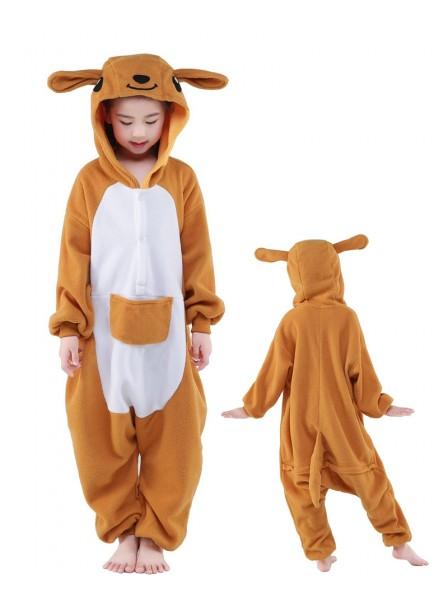 Känguru Onesie Kids Kigurumi Polar Fleece Tier Kostüme Für Jugend