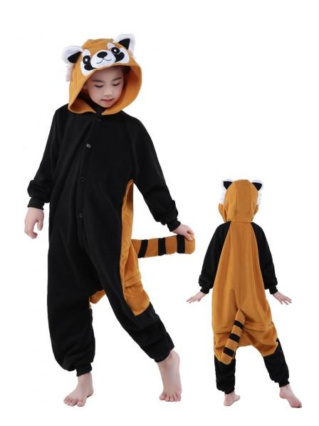 Roter Panda Onesie Kids Kigurumi Polar Fleece Tier Kostüme Für Jugend