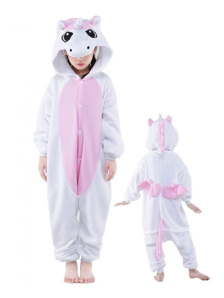 Rosa Einhorn Onesie Kids Kigurumi Polar Fleece Tier Kostüme Für Jugend