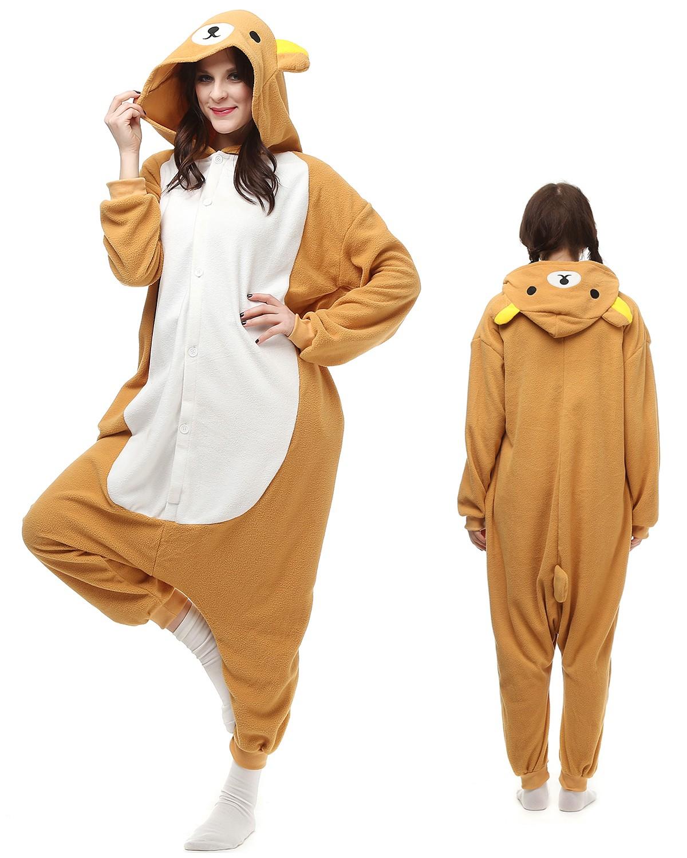 e566d3db1a3c Rilakkuma Kigurumi Onesie Pyjamas Polar Fleece Tier Unisex Kostüme Für  Erwachsene