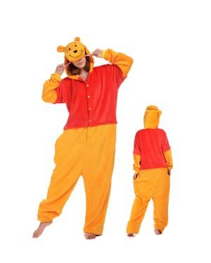 1c31ac2284 Winnie the Pooh Kigurumi Onesie Pyjamas Weich Flannel Unisex Tier Kostüme  Für Damen & Herren ...